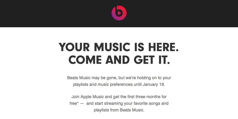 beats rimanda scadenza apple music
