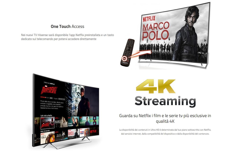 HiSense cavalca l'onda di Netflix portandolo sulle sue nuove TV