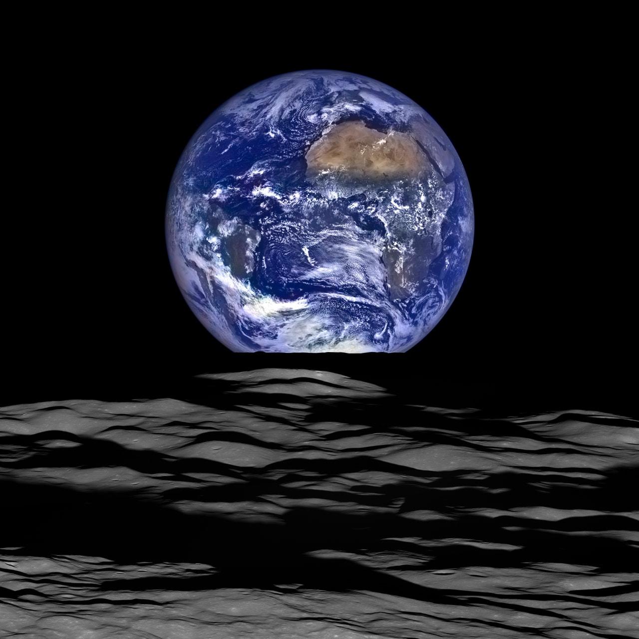 scatto terra dalla luna nasa