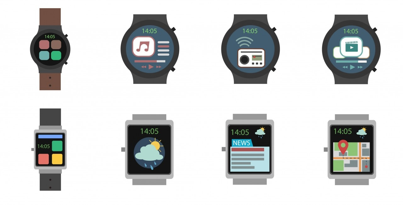 Smart Watch Icon Flat