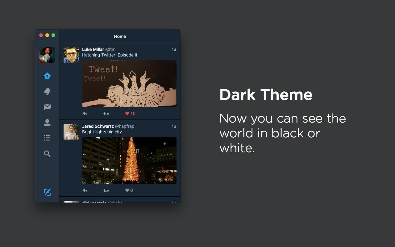 Twitter si aggiorna su OS X: finalmente nuove funzioni e veste grafica