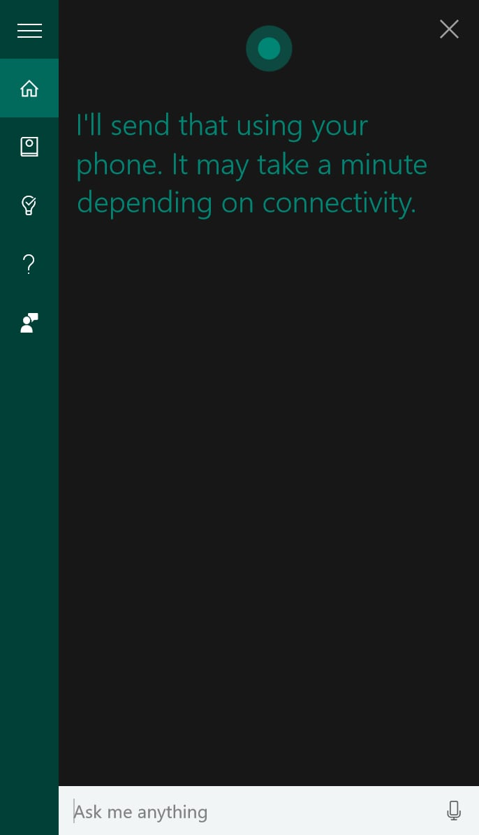 Cortana – SMS Windows 10 Android – 2
