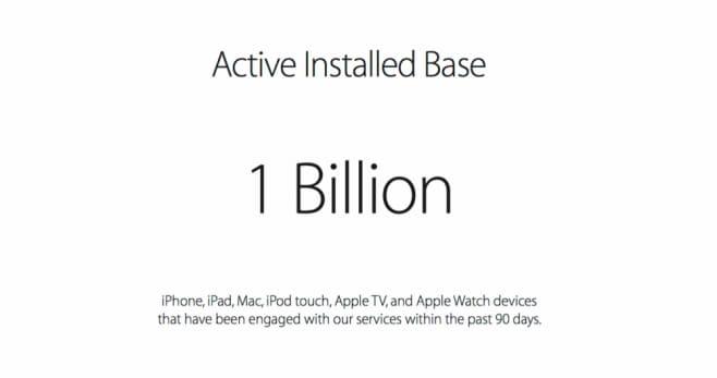 Apple 1 miliardo dispositivi attivi