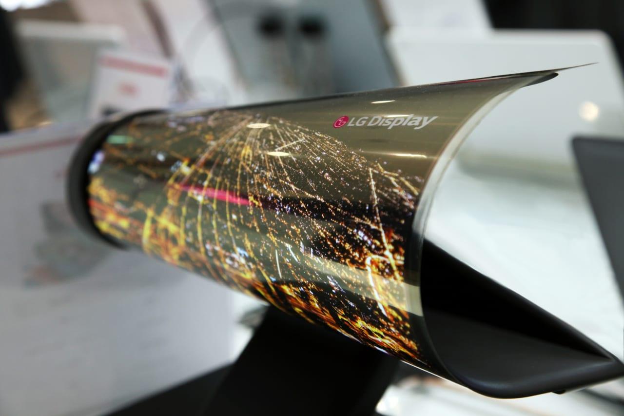 Display LG OLED arrotolabile