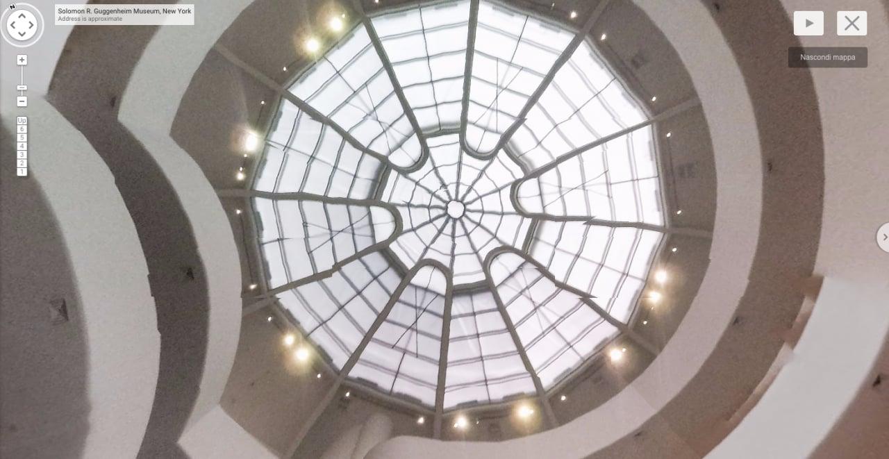 Google e droni vi portano dentro al museo Guggenheim di New York
