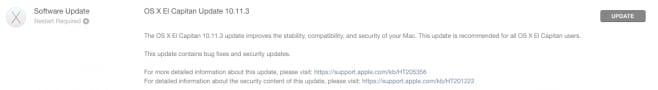 OS X 10.11.3 changelog