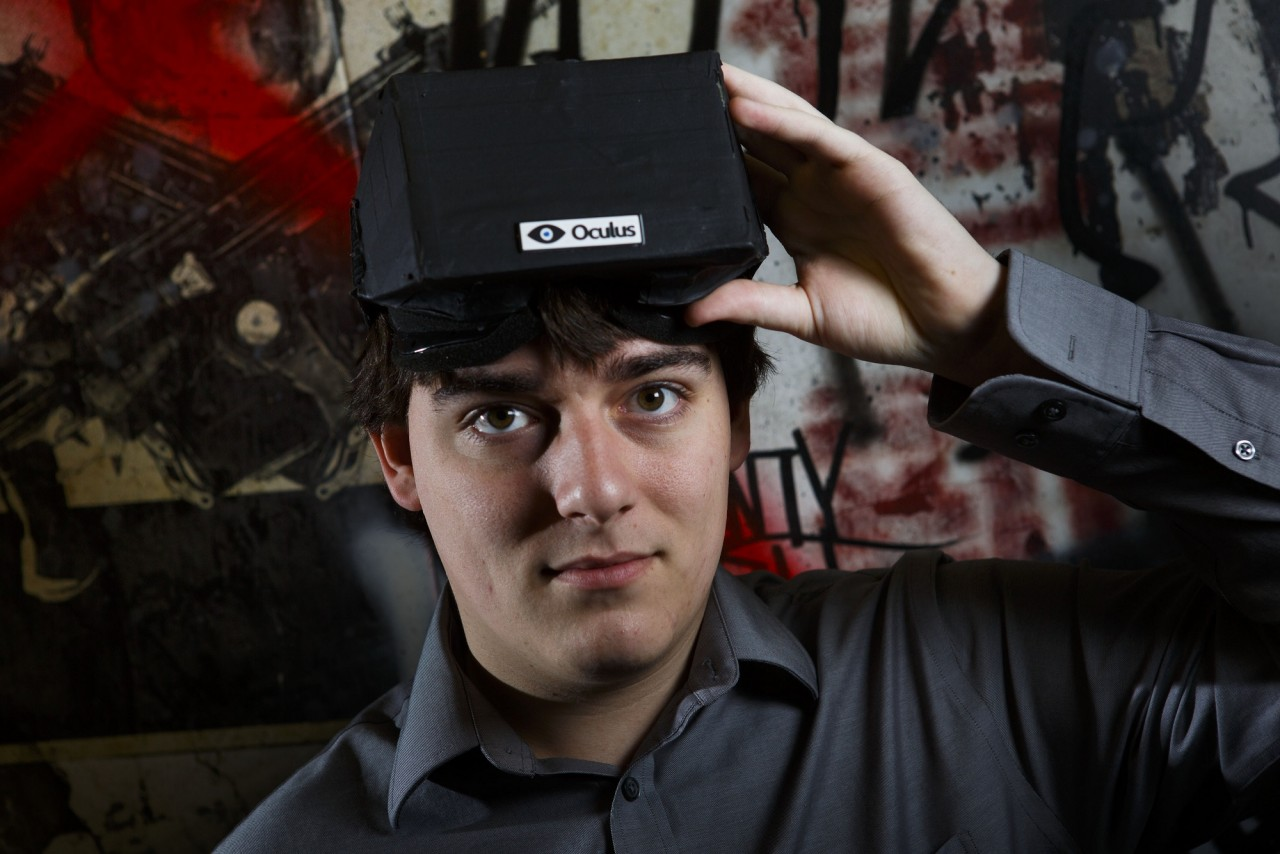 Palmer Luckey, the creator of the Oculus Rift virtual reality gaming headset, at his workshop in Irvine, Calif.