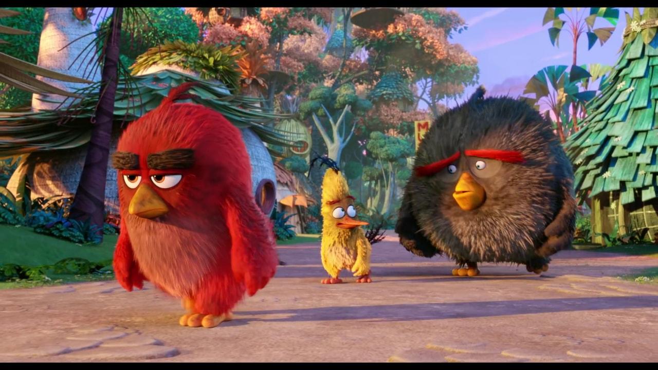 La pubblicità del film di Angry Birds
