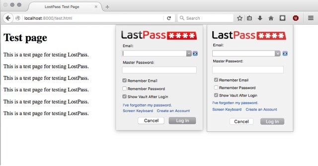 Uno dei due pop-up di LastPass è falso: impossibile distinguere quale
