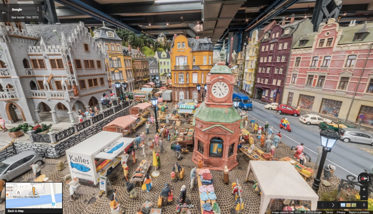 miniature wunderland street view