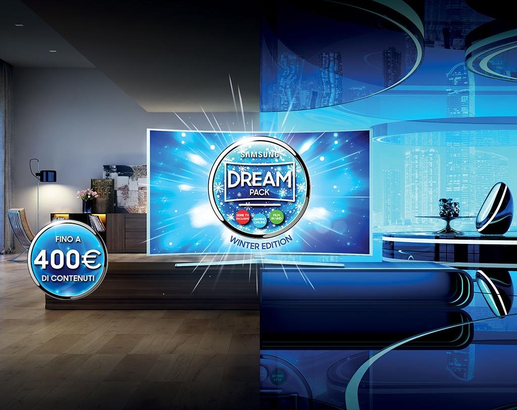 Comprate una TV Samsung ed otterrete fino a 400 euro di contenuti gratuiti
