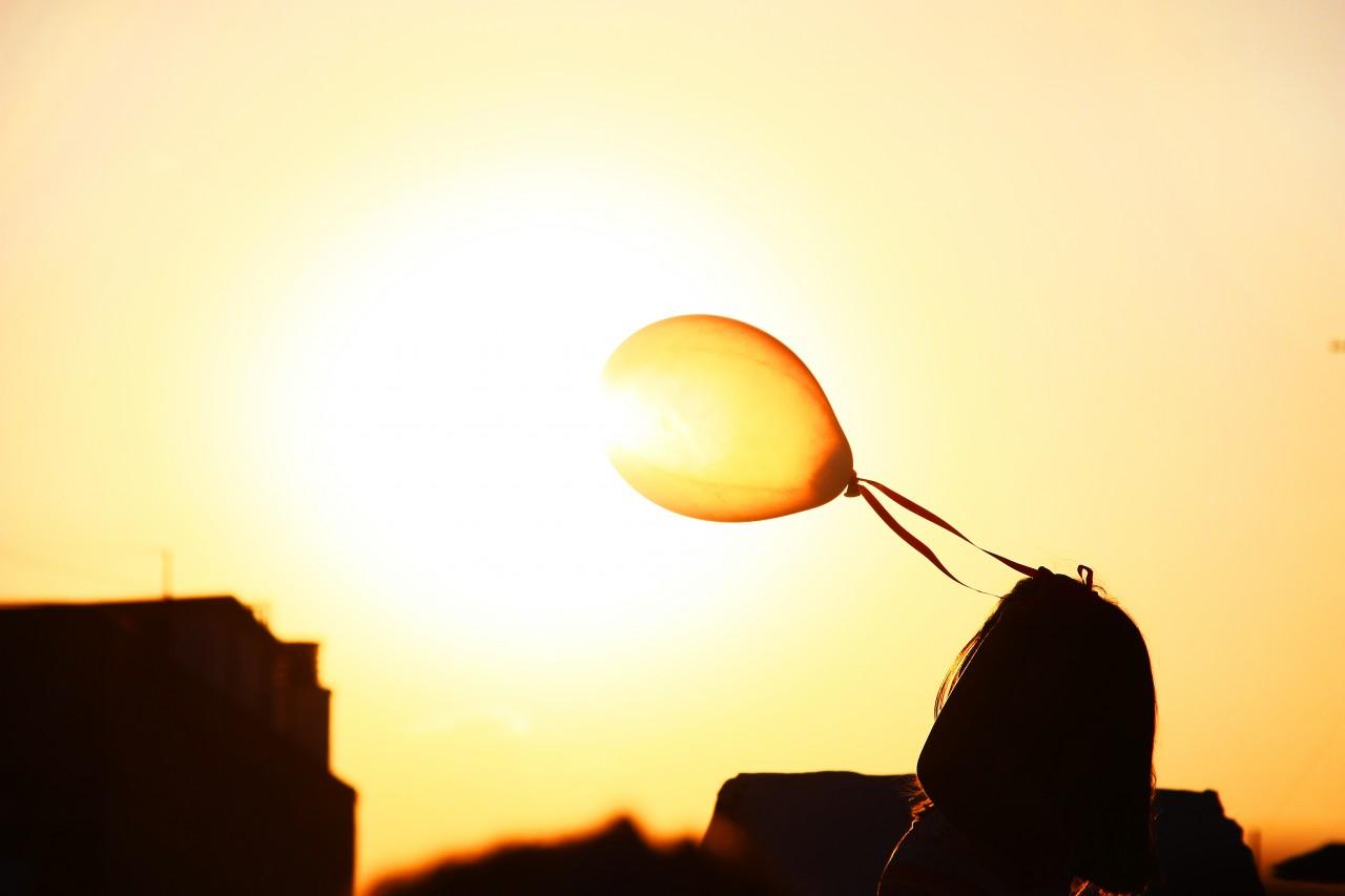 sole palloncini mit finestre luce