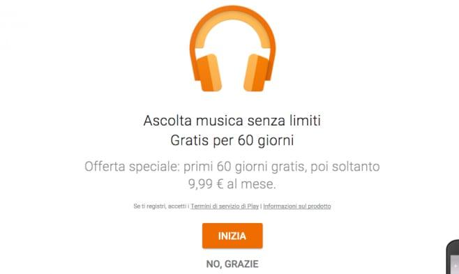 2 Mesi gratis Google Play Music