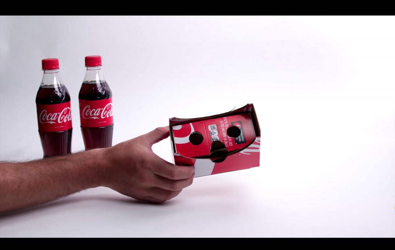 Cardboard Coca Cola