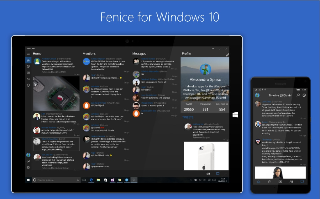 Fenice Windows 10