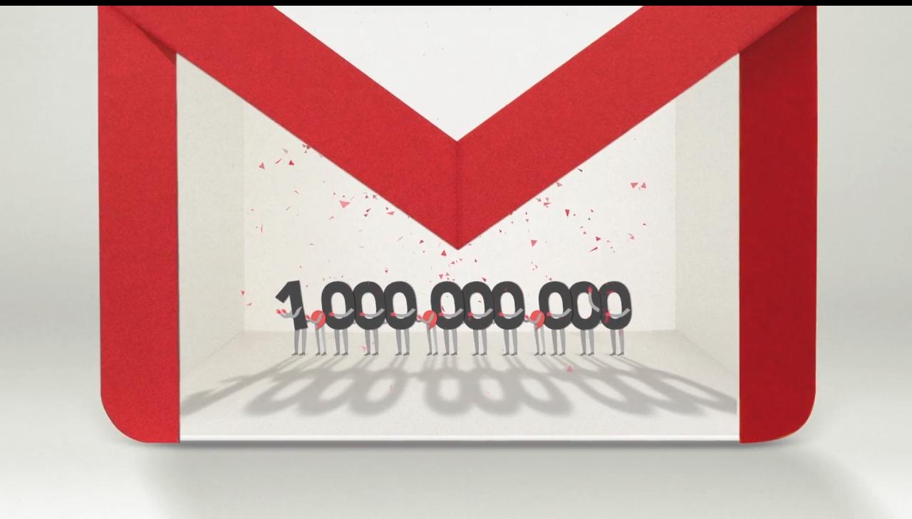 GMail miliardo utenti