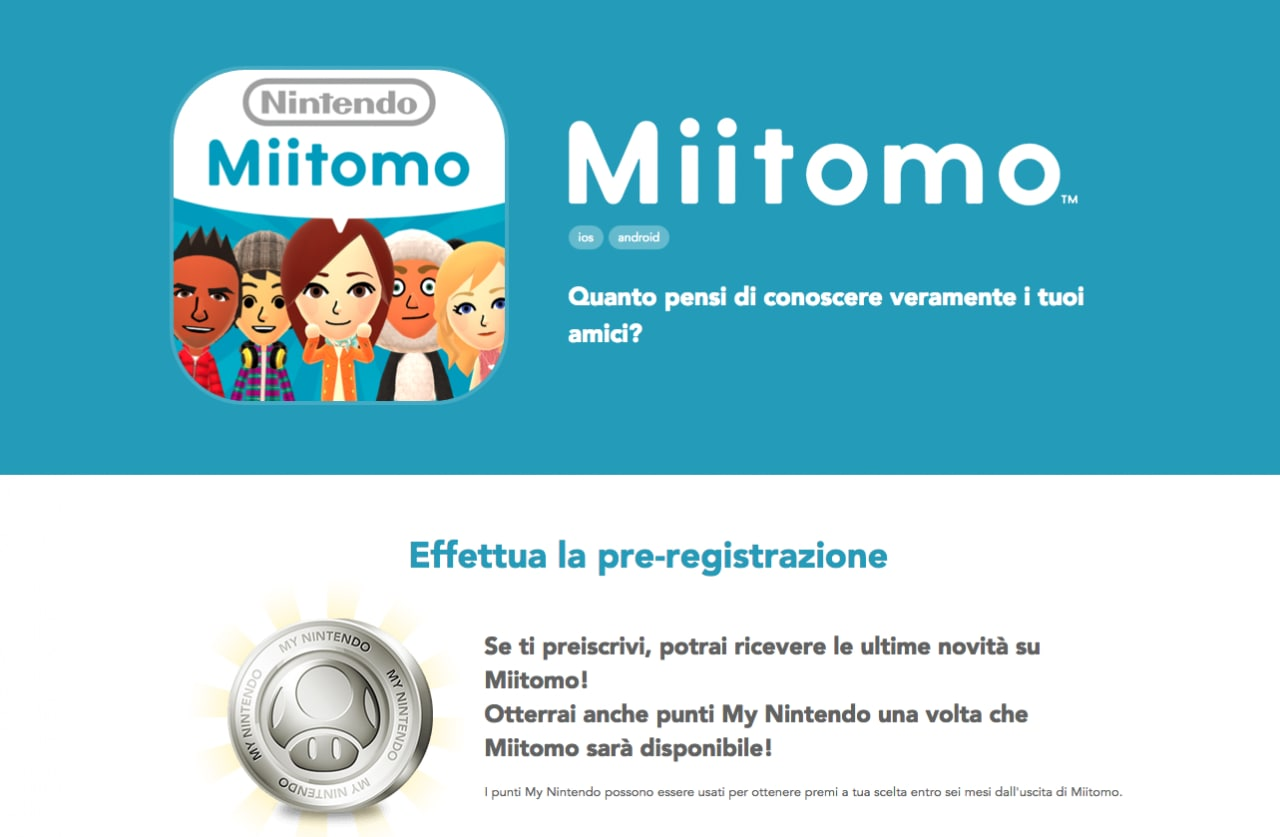 Miitomo Nintendo Account