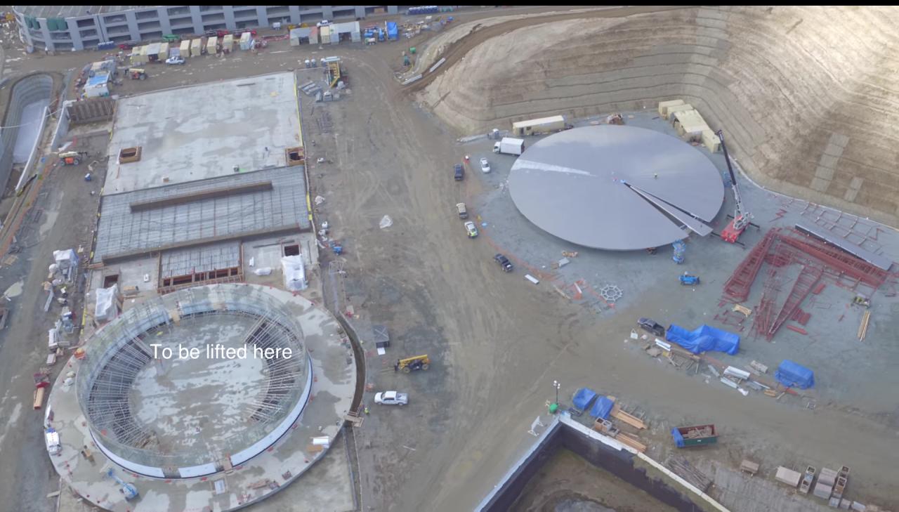 Video drone Apple Campus 2 febbraio 2016