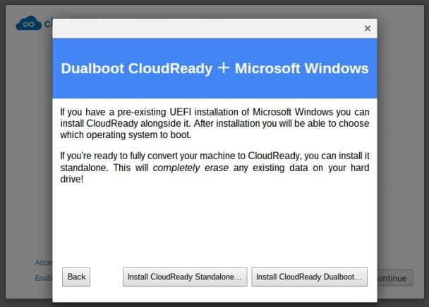 cloudready dual boot