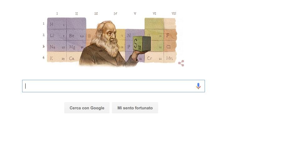 Google celebra l'inventore della tavola periodica e anche voi dovreste! (video)
