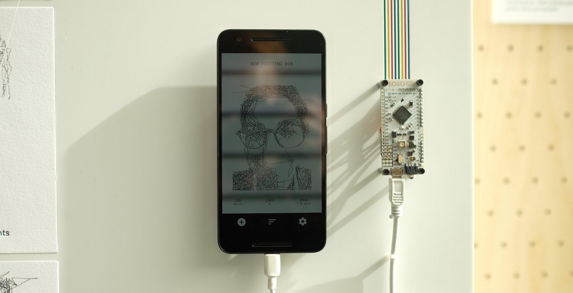 robot Google che disegna foto