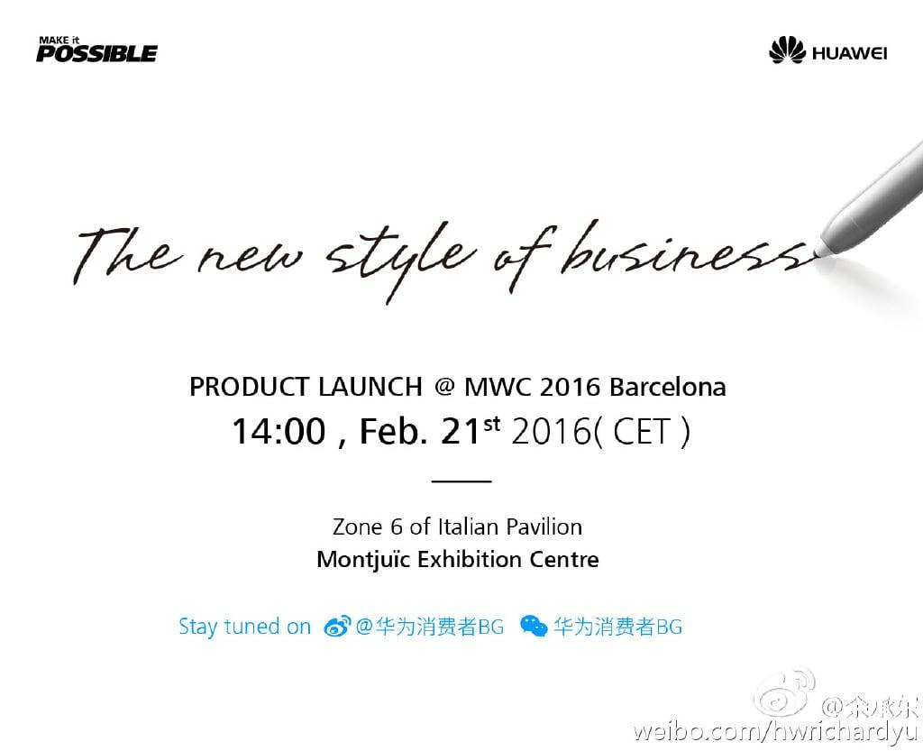 teaser Huawei mwc 2016 stylus