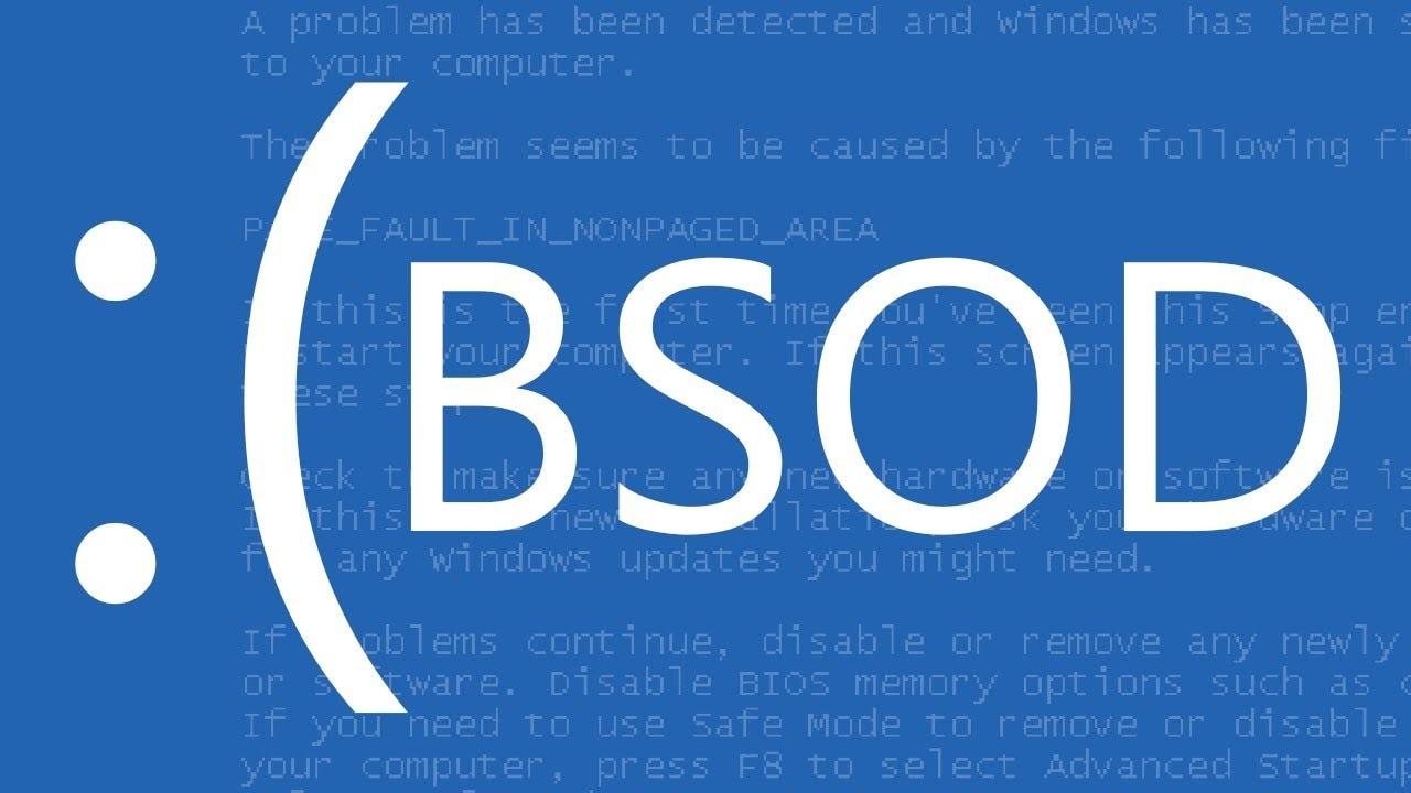 BSOD crash windows Blue Screen of Death