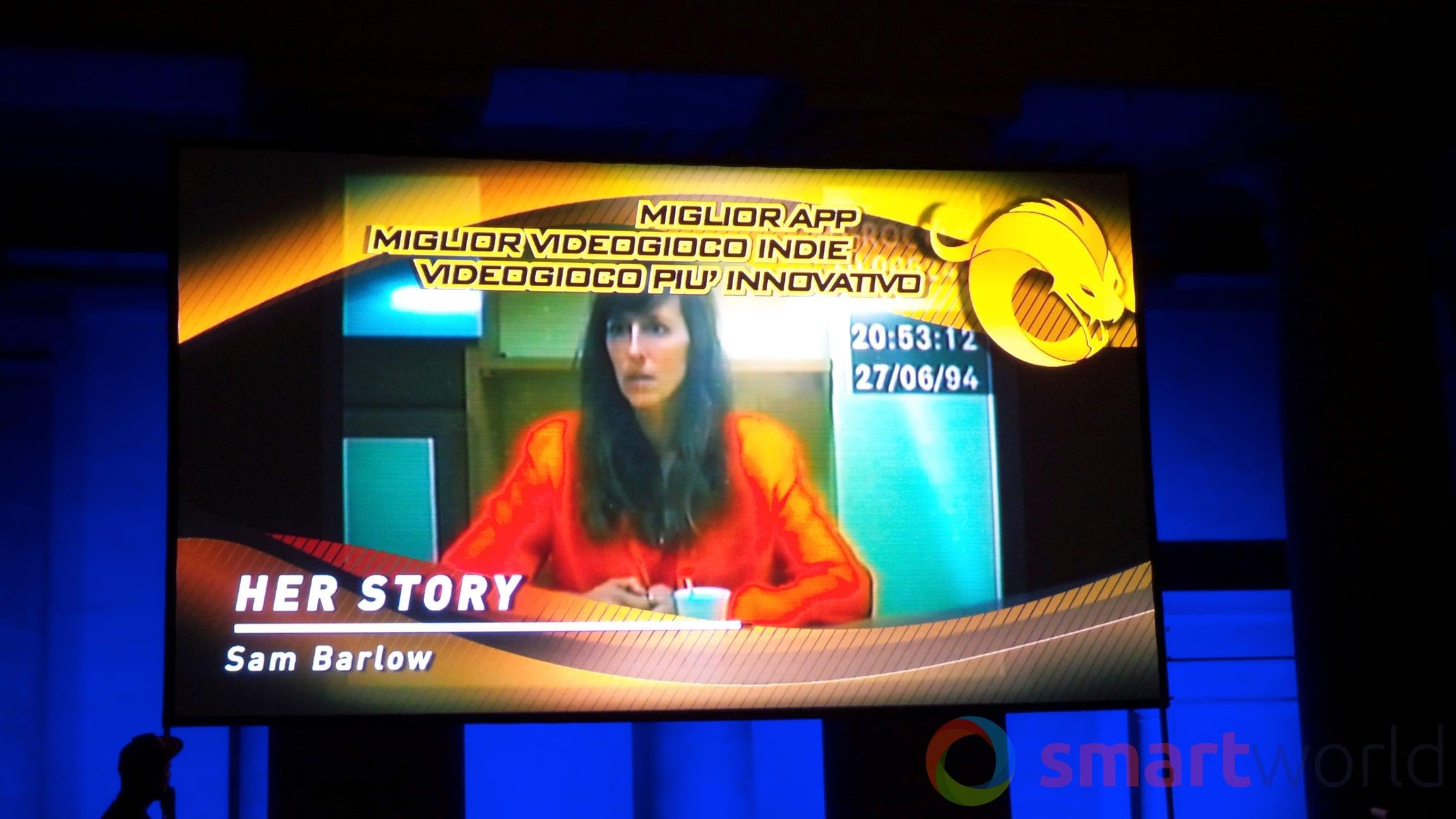 Drago d'Oro – Miglior app, videogioco indie, più innovativo – Her Story
