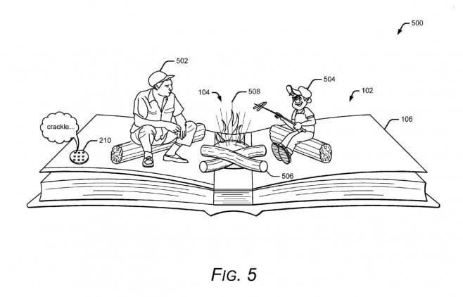 Google - brevetto libri pop-up realtà aumentata - 2