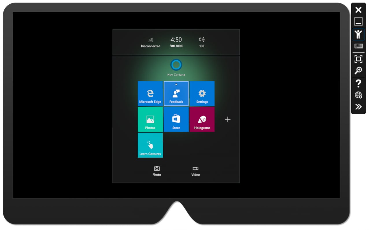 Microsoft hololens emulatore