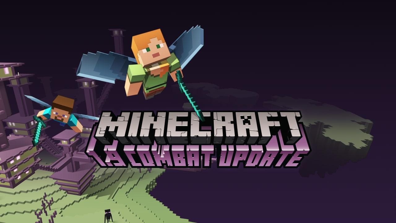 Spada e scudo, torcia e piccone: in Minecraft si può grazie al Combat Update
