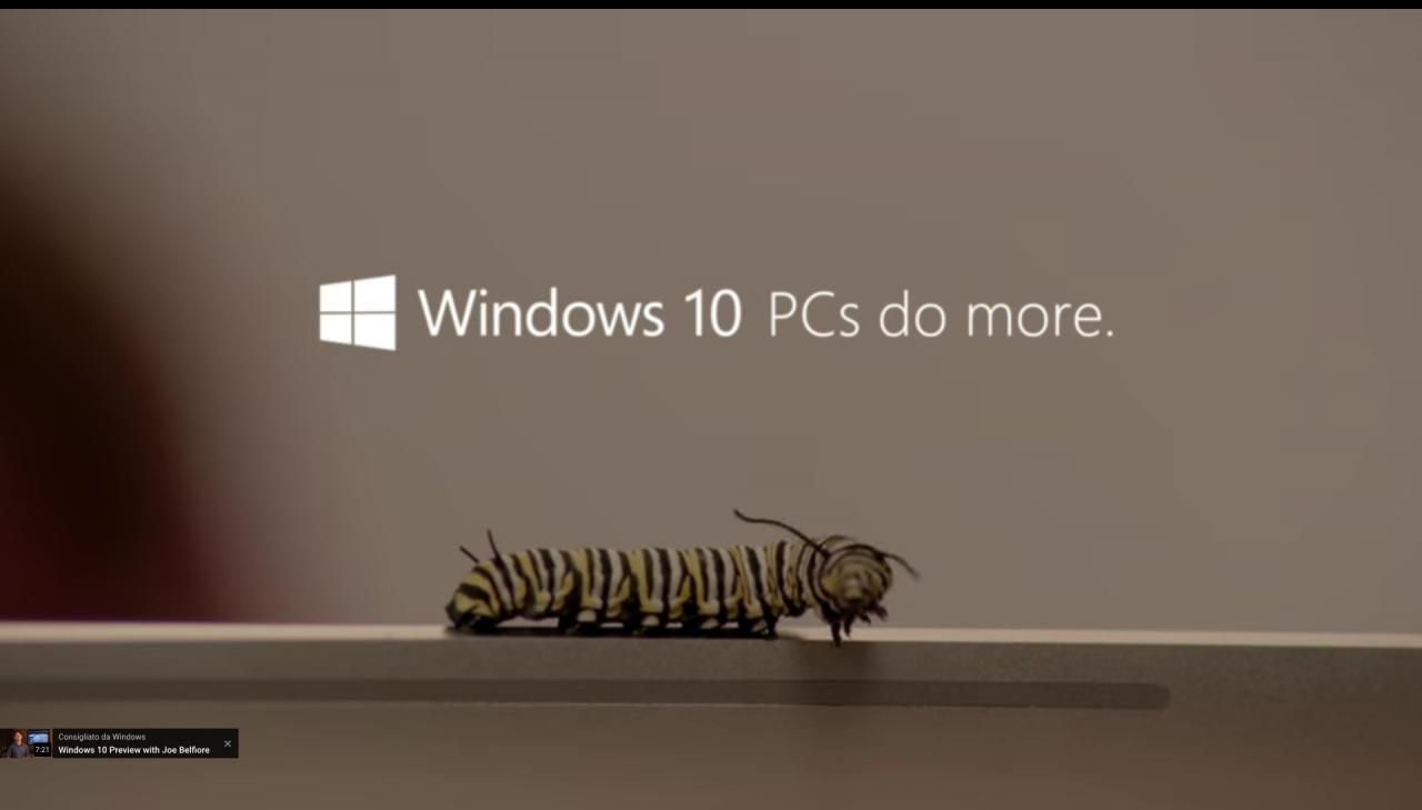 Windows 10 pubblicità insetti