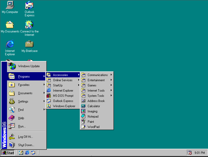 Windows 98 windows 1.01 linux (1)