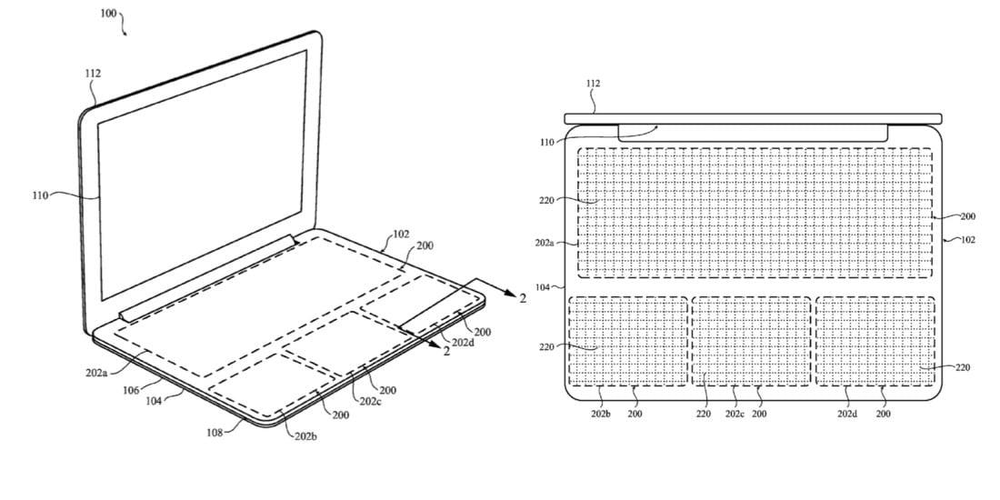 Apple brevetta un touchscreen al posto della tastiera dei MacBook (foto)