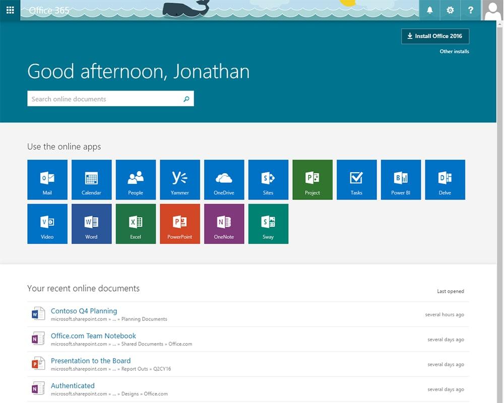 Office 365: avete già ricevuto la nuova homepage?