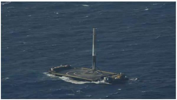 SpaceX - Falcon 9 - atterraggio in mare