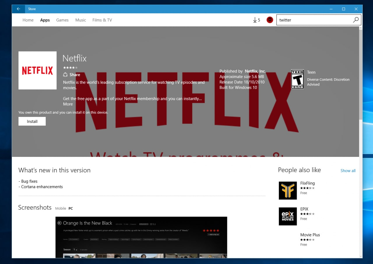 Windows Store nuovo design Google Play_4