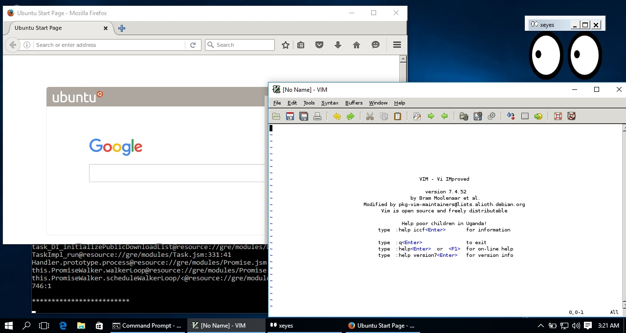 app linux gui su windows 10