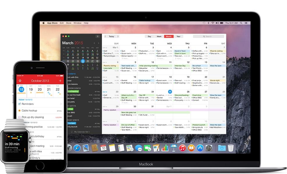 Fantastical, uno dei calendari più completi per i dispositivi Apple (foto)