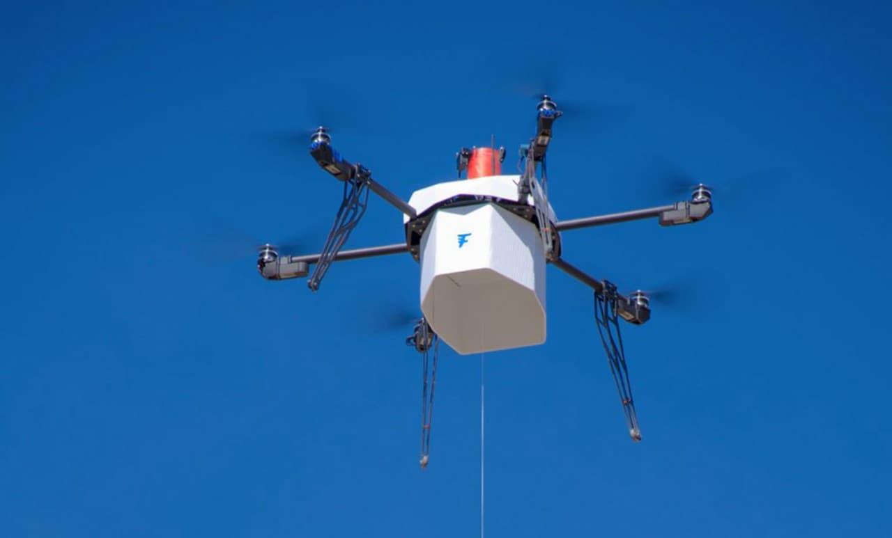 flirtey consegna con un drone