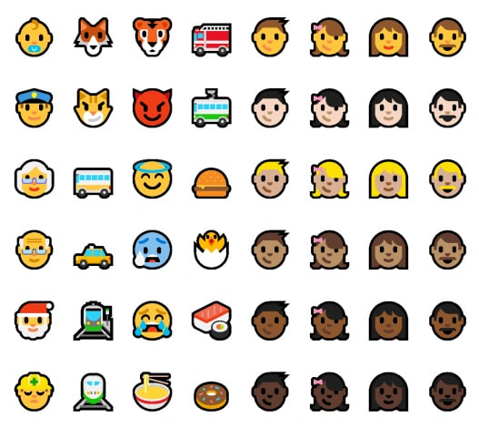 windows 10 emoji build 14316