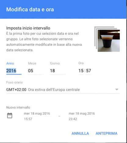 Google Foto modifica data ora batch_1