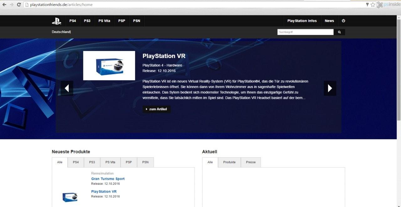 Uscita PlayStation VR