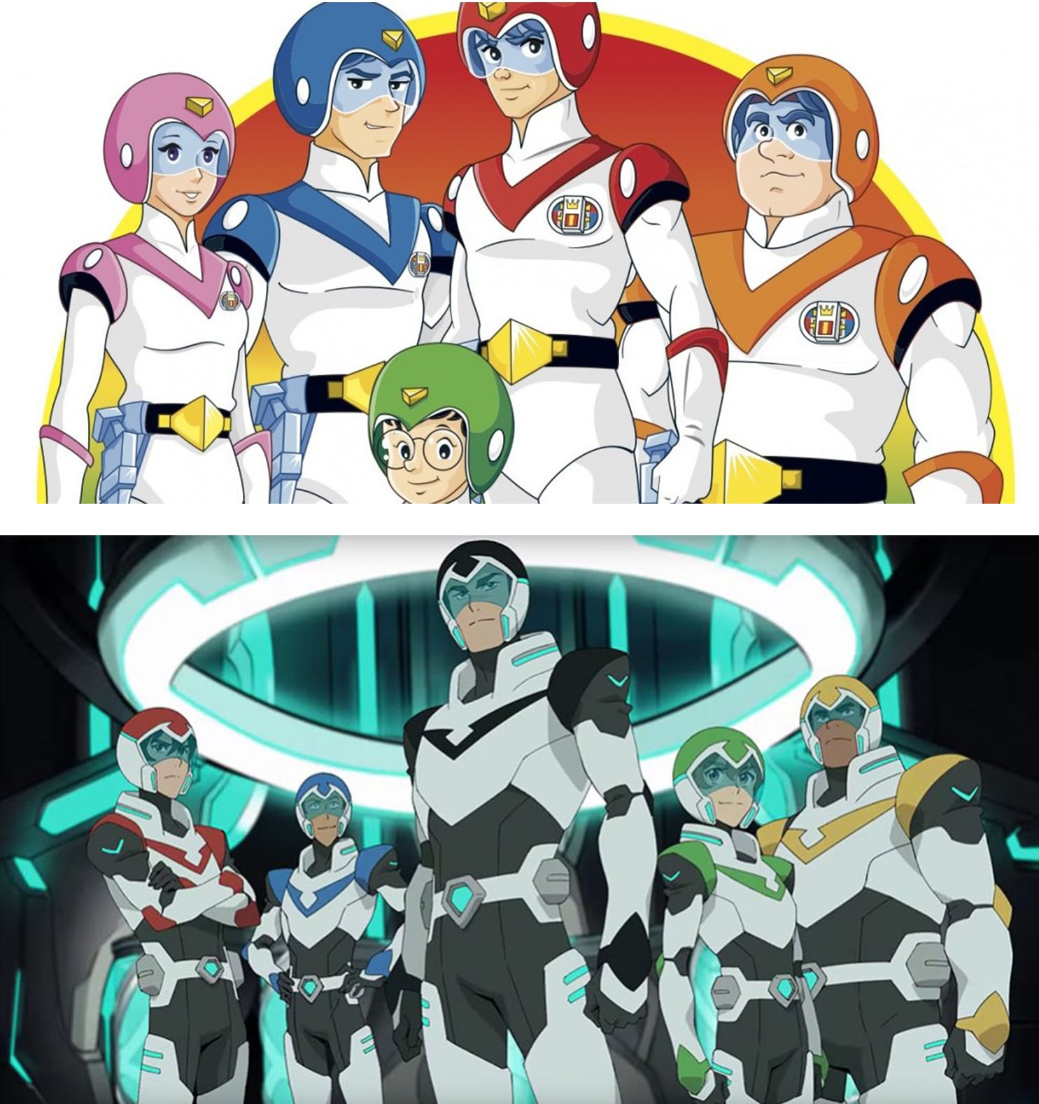 Voltron new vs. old