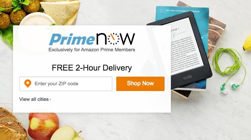 Amazon Prime Now continua ad espandersi con un sito dedicato