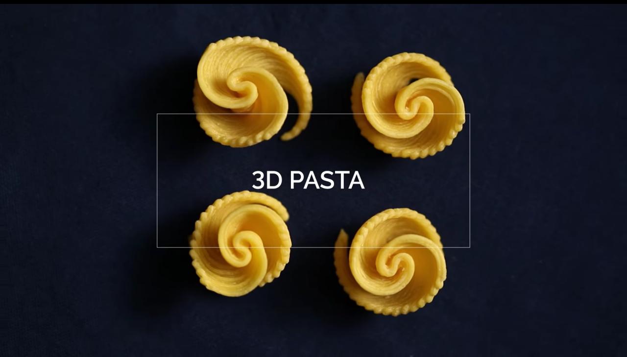 barilla pasta stampa 3d