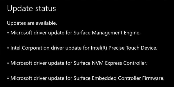 changelog aggiornamento surface book pro 4 24 05 2016