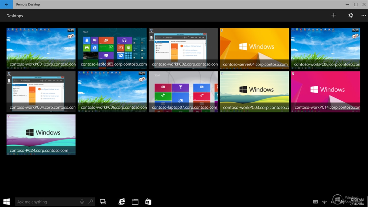 desktop remoto windows 10