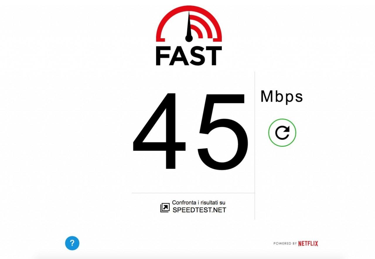 Fast.com di Netflix misura la velocità della vostra connessione
