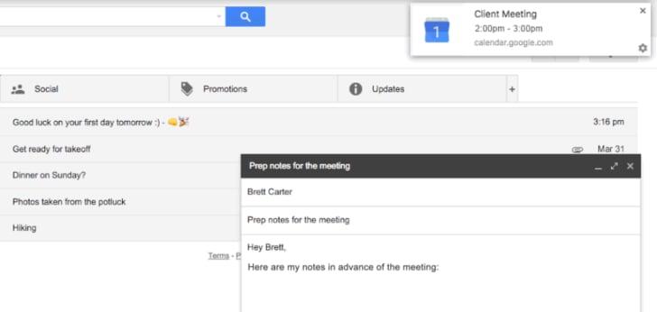 promemoria google calendar discreti